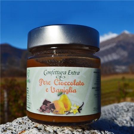 Confettura Extra di pere, cioccolato e vaniglia